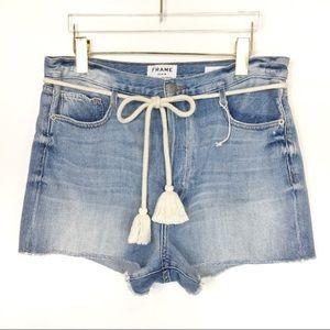 NWOT FRAME DENIM Le Original tassel tie shorts